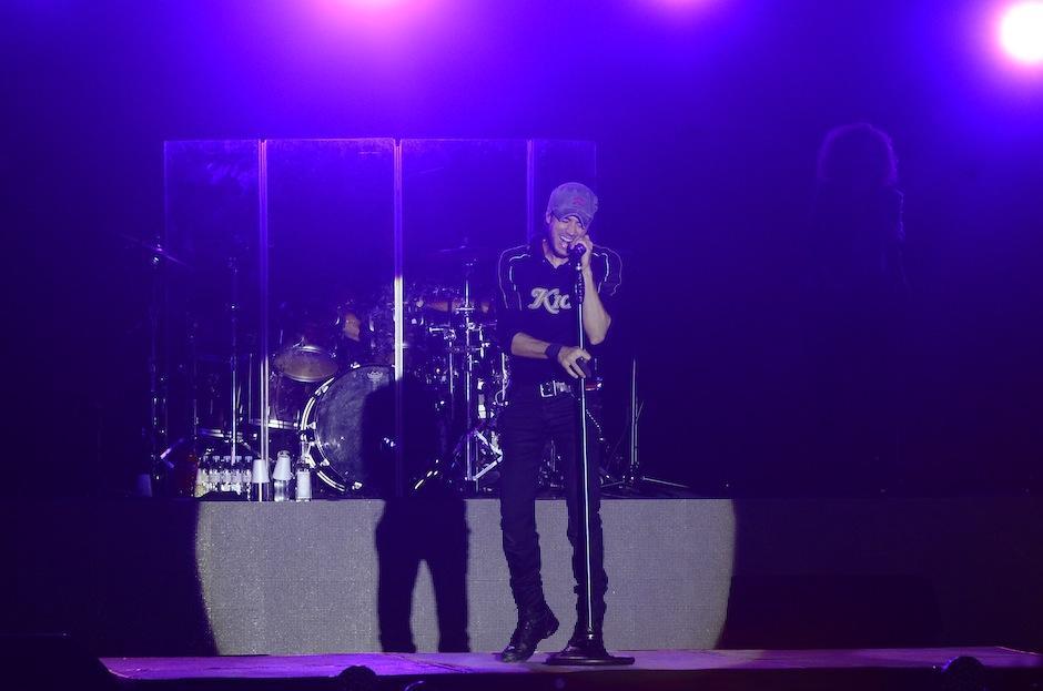 Enrique Iglesias presentó su tour Sex+Love en Guatemala. (Foto: Abner Salguero/Nuestro Diario)