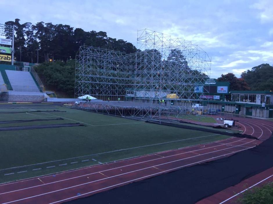 La misma plataforma será utilizada durante la Vigilia por La Paz el 31 de octubre. (Foto: Facebook/SD Concerts Guatemala)