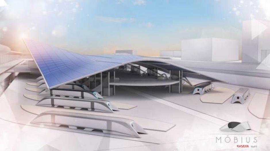 El proyecto consiste en un medio de transporte super rápido. (Foto: Mobius)