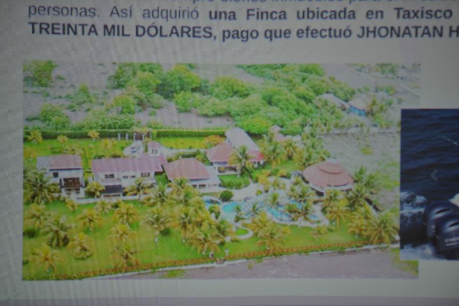 Varias propiedades fueron compradas con el dinero del soborno para la expareja presidencial. (Foto: Wilder López/Soy502)
