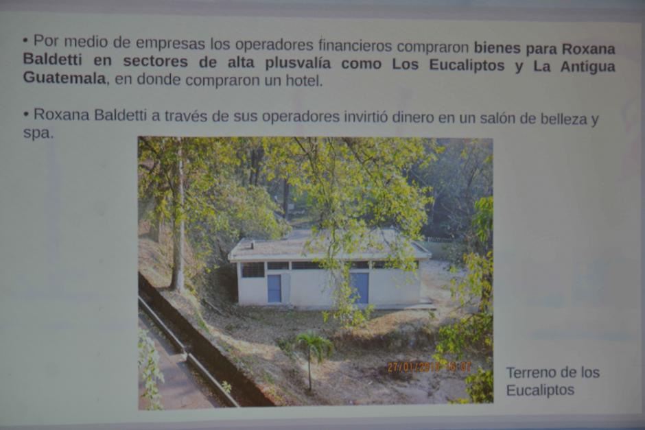 Se logró determinar que Chévez compró propiedades a nombre de Baldetti. (Foto: Wilder López/Soy502)