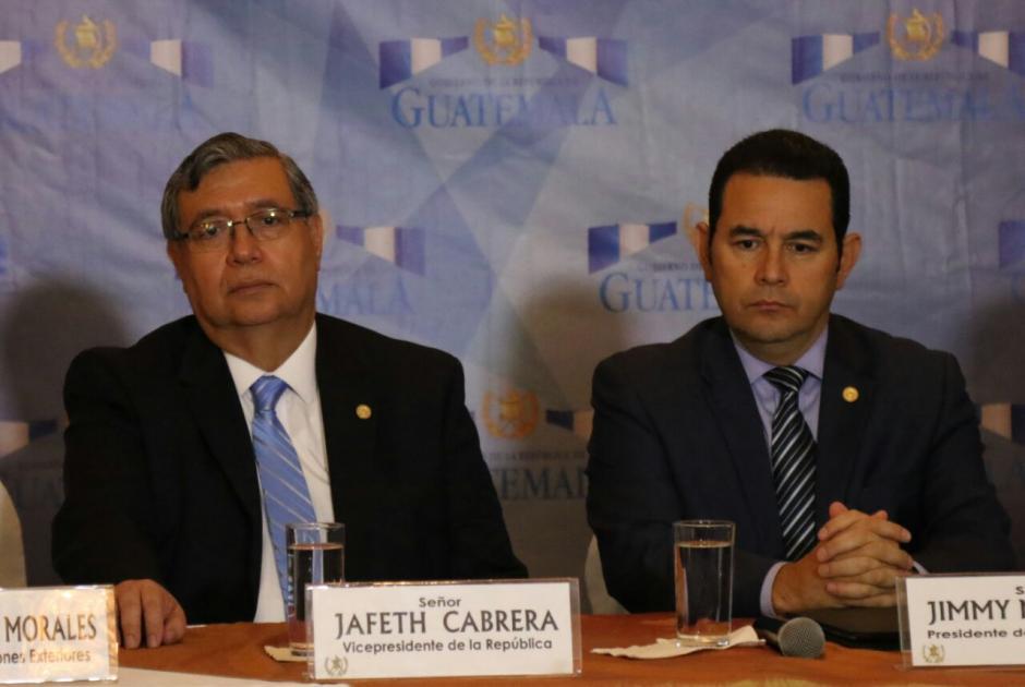 El presidente Jimmy Morales solicitó un nuevo informe. (Foto: Alejandro Balán/Soy502)