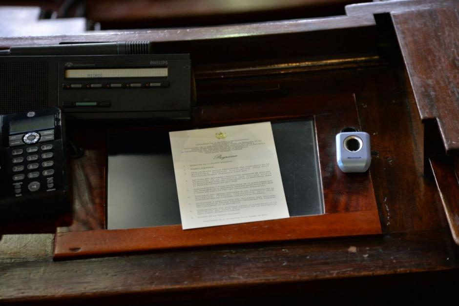 La agenda y discursos se pusieron en los lugares respectivos. (Foto: Wilder López/Soy502)