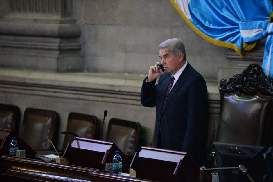 El presidente del Congreso, Luis Rabbé, convocó a sesión extraordinaria para este miércoles a las 14 horas. (Foto: Wilder López/Soy502)