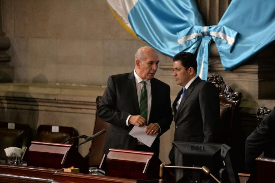 El presidente del Congreso Mario Taracena dio inicio a la sesión. (Foto: Wilder López/Soy502)