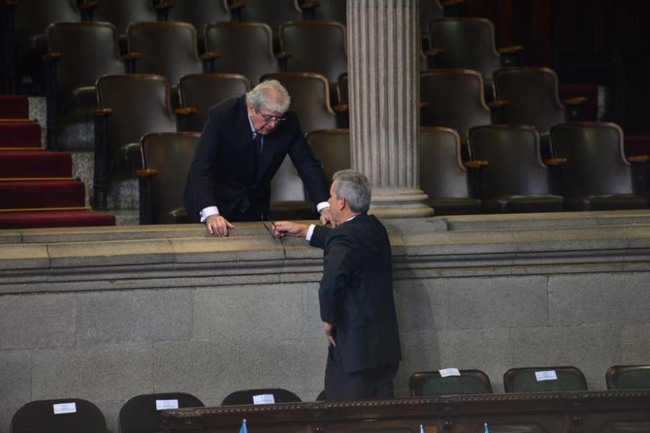 El exvicepresidente Rafael Espada antes del inicio de la Sesión Solemne en el Congreso. (Foto: Jesús Alfonso/Soy502)