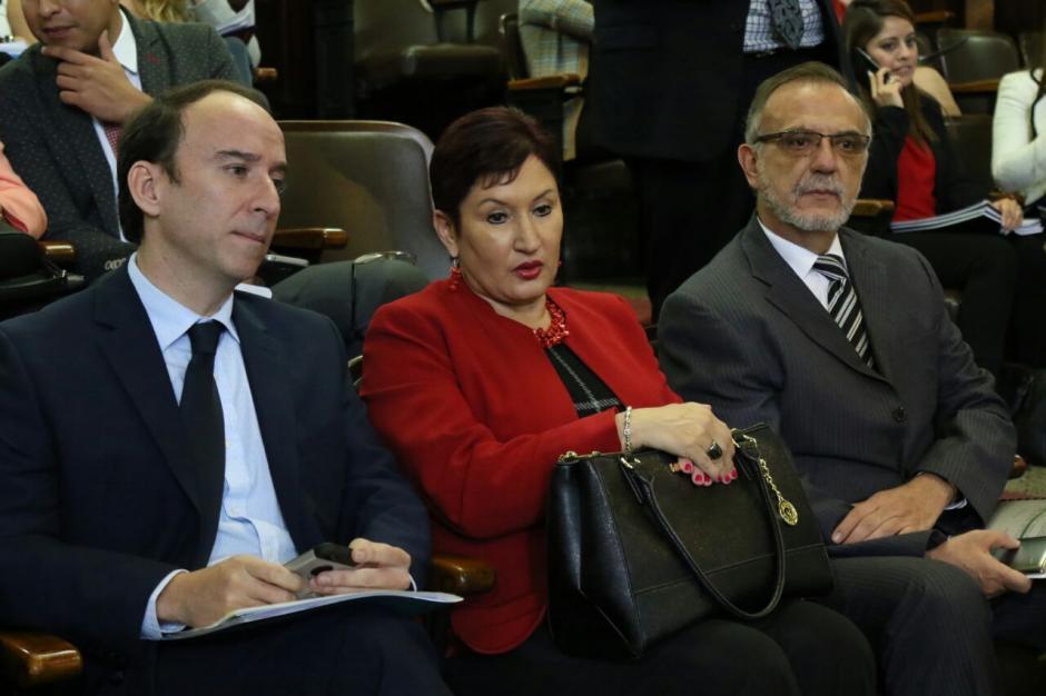 El procurador de los Derechos Humanos, la Fiscal General y el Comisionado de la CICIG visitan el Congreso de la República. (Foto: Alejandro Balán/Soy502)