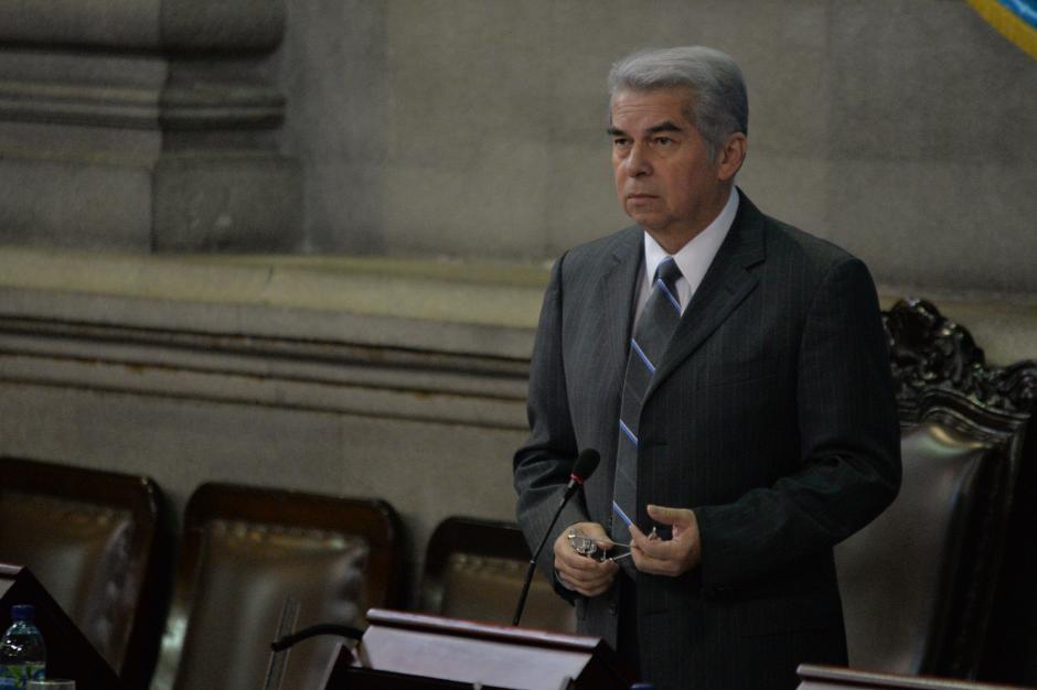 La fotografía de Rabbé no fue colocada luego que dejara la Presidencia del Congreso. (Foto: Archivo/Soy502)