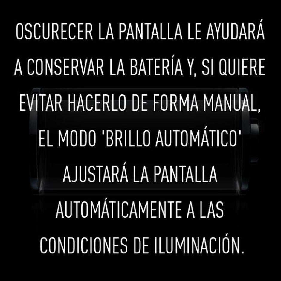 """No activar la opción """"brillo automático"""".  (Foto: RT)"""