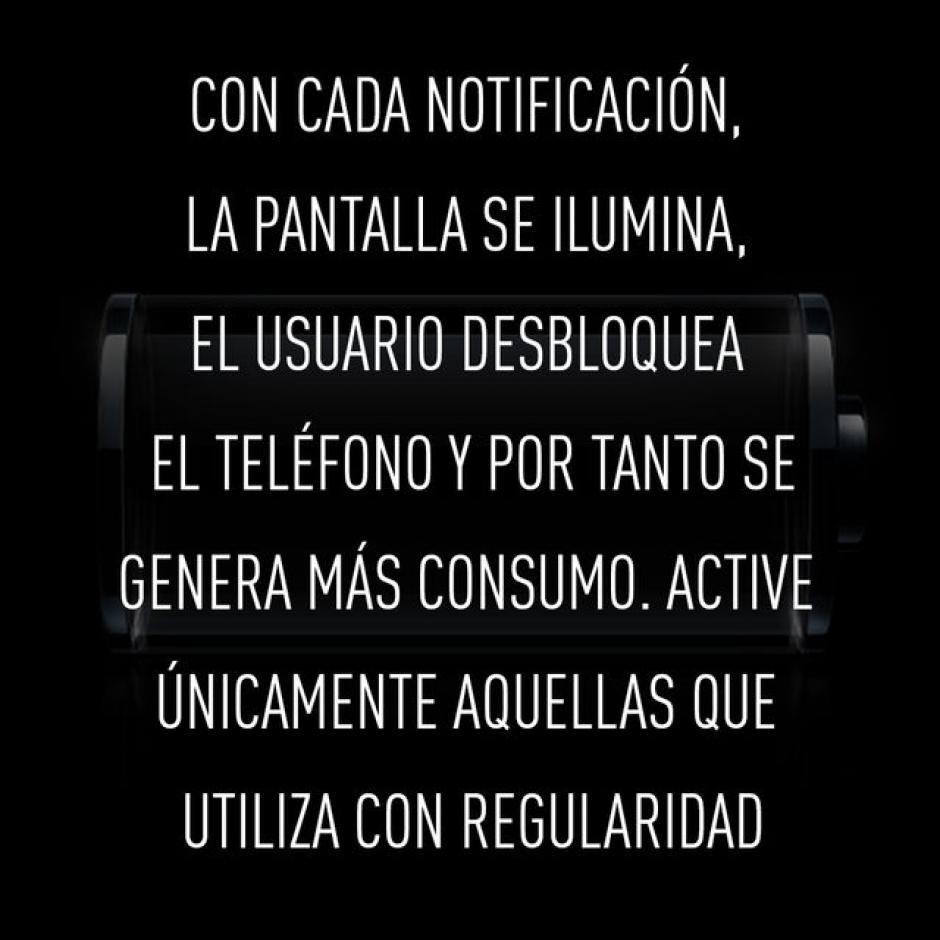 Mantener todas las notificaciones activas. (Foto: RT)