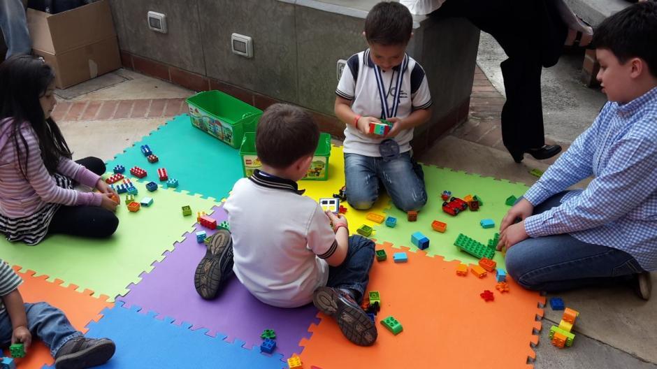 Los niños del colegio Continental Americano se divirtieron durante su participación en la competencia.(Foto: Fredy Hernández/Soy502)
