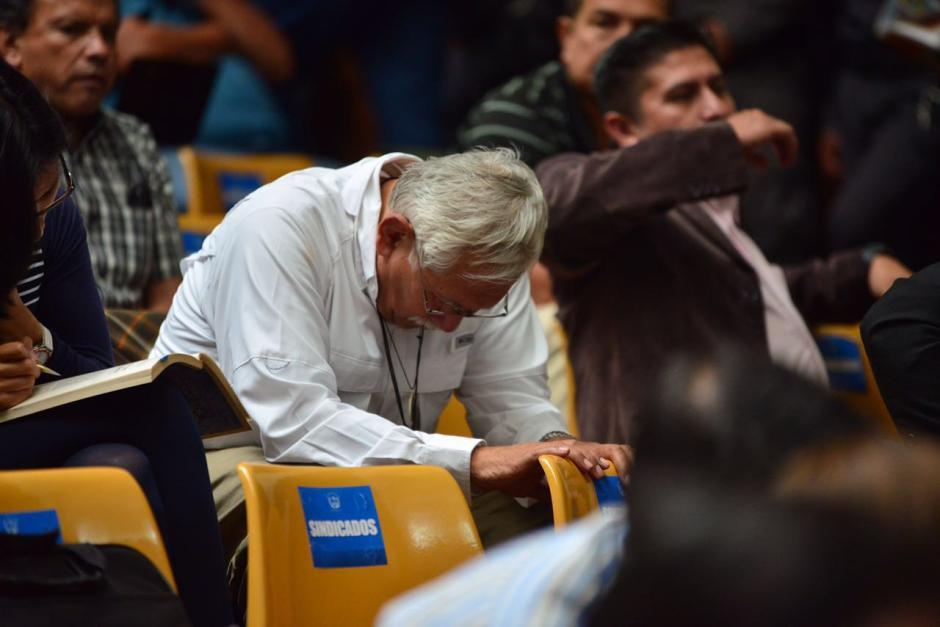El cooperativista Edín Barrientos ya no sonreía como en las primeras audiencias. (Foto: Jesús Alfonso/Soy502)