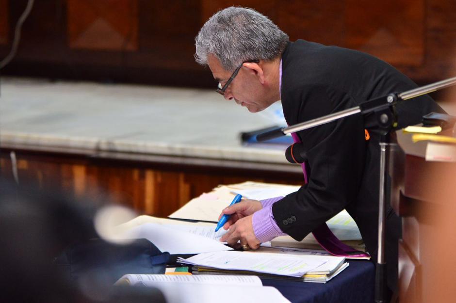 El juez Miguel Ángel Gálvez argumentó durante más de cuatro días. (Foto: Jesús Alfonso/Soy502)