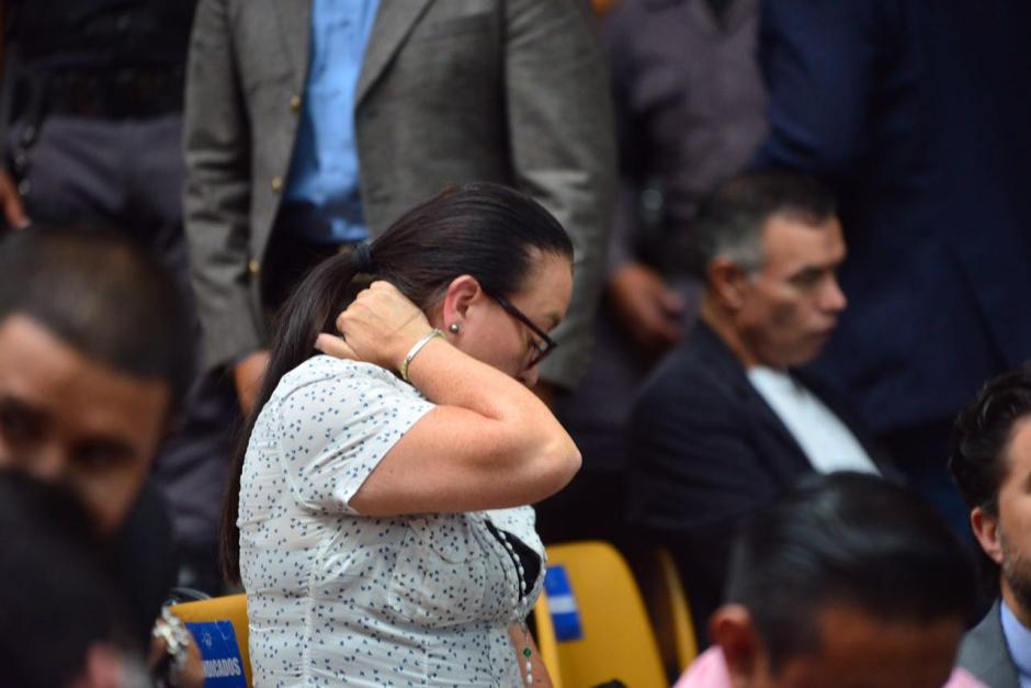 Otros de los implicados se mostraron estresados en la audiencia. (Foto: Jesús Alfonso/Soy502)