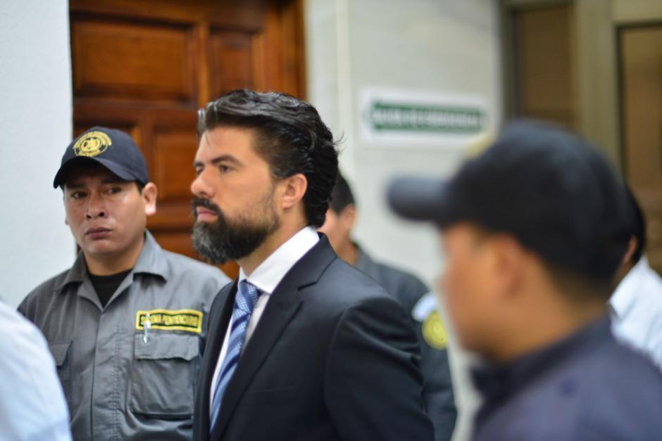 El sindicado Jonathan Chévez a su llegada a la Sala de Vistas de la CSJ. (Foto: Jesús Alfonso/Soy502)