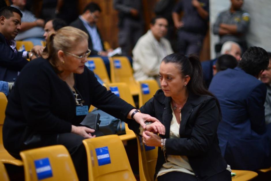 Las sindicadas se mostraron preocupadas por la resolución del juez Miguel Ángel Gálvez. (Foto: Jesús Alfonso/Soy502)
