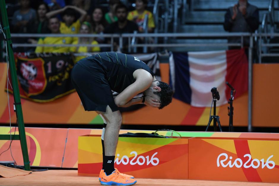 Cordón se lamentó la dolencia en su rodilla durante el segundo set. (Foto: Sergio Muñoz/Enviado ACD)