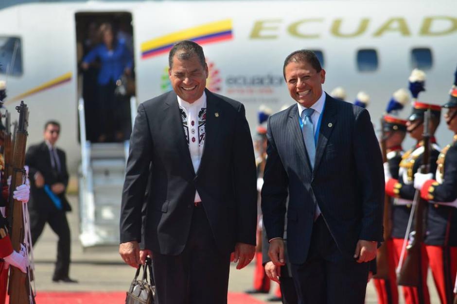 El presidente de Ecuadro es el último funcionario en llegar a Guatemala para el cambio de mando. (Foto: Jesús Alfonso/Soy502)