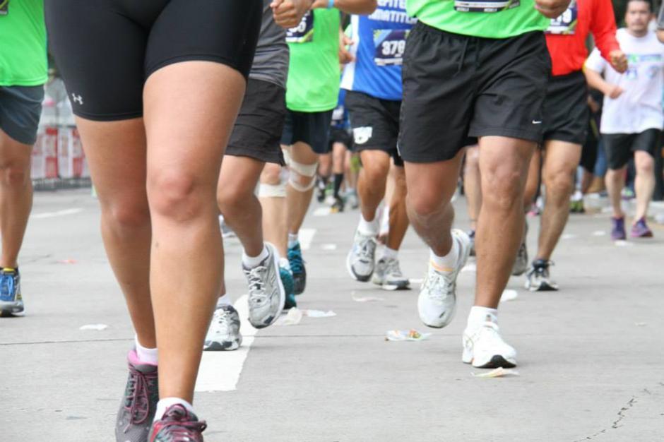 Personas salen a correr