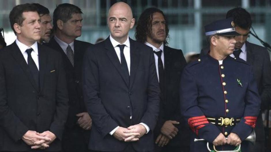 El presidente de la FIFA Gianni Infantino, también asistió al lugar. (Foto: Infobae)