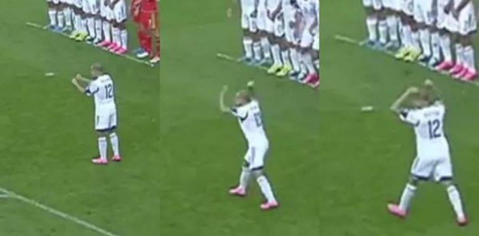 truco de magia contra Gareth Bale foto