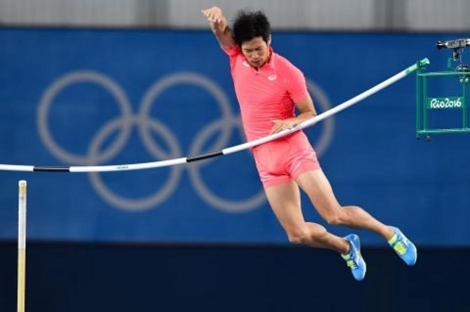 El salto de Hiroki Ogita no pudo superar la altura establecida. (Foto: EFE)