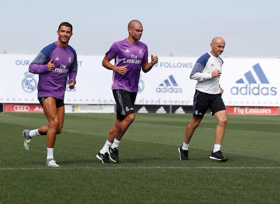 Cristiano Ronaldo volvió a los entrenamientos del Real Madrid. (Foto: Twitter)
