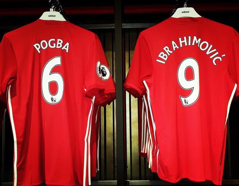 Pogba e Ibra son la sensación en la Premier League. (Foto: Twitter)