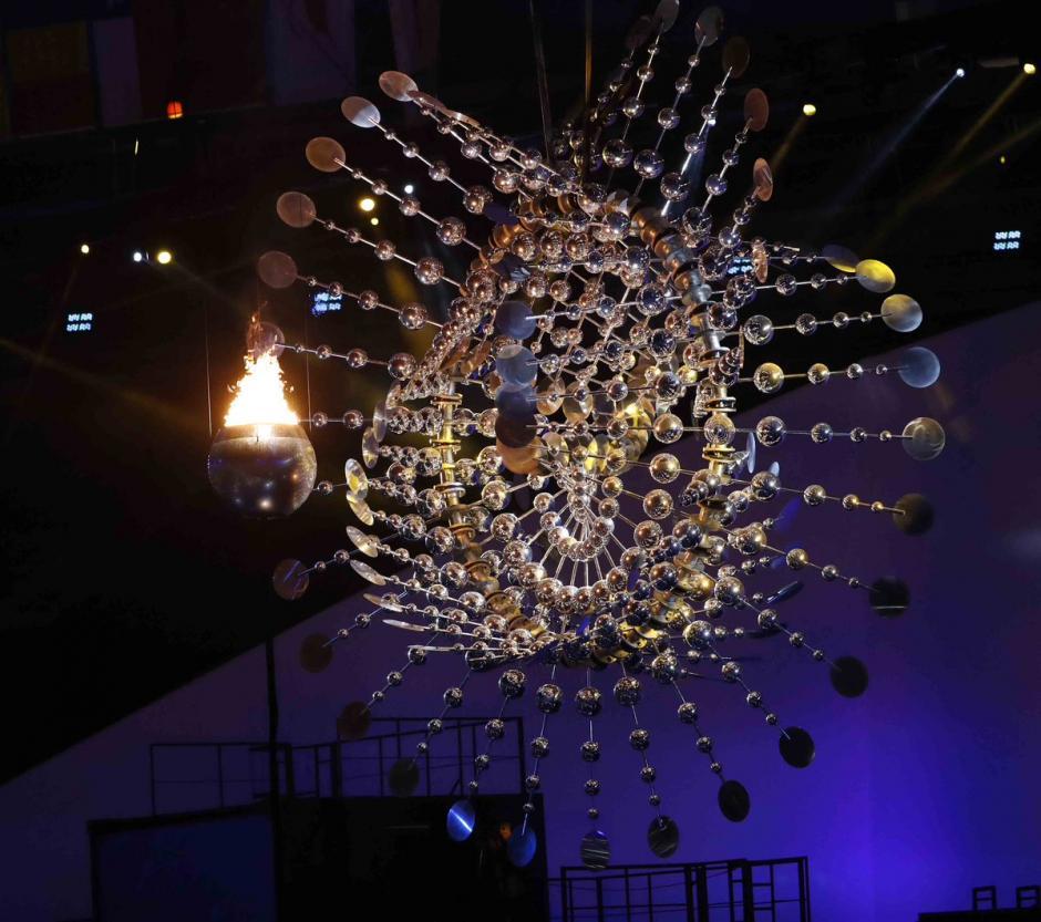 El pebetero olímpico sorprendió al mundo. (Foto: EFE)