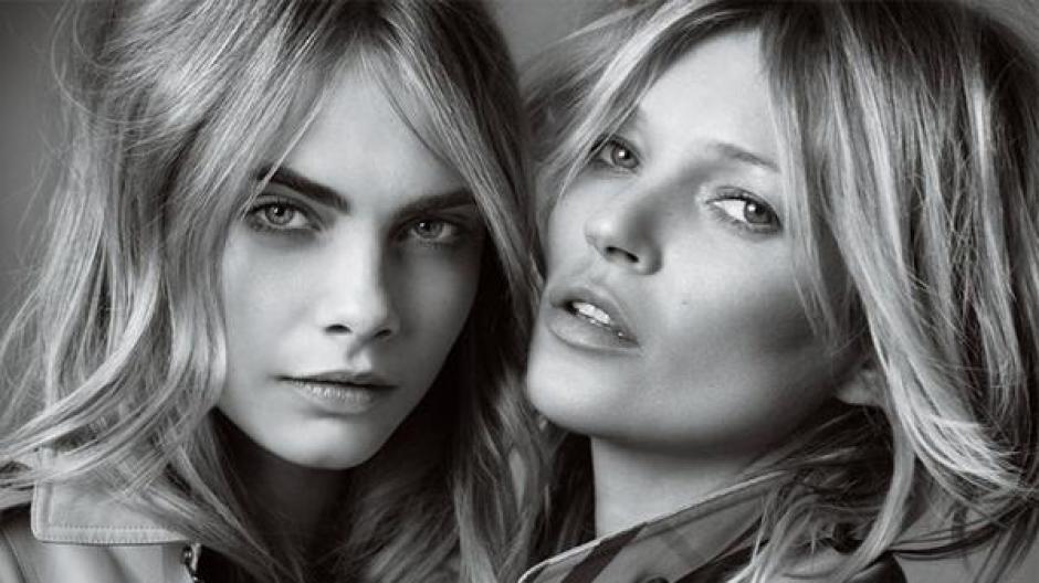 Cara Delevingne y Kate Moss en Milán foto