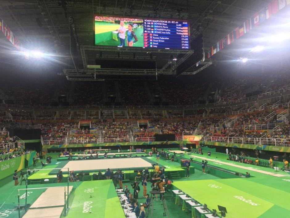 En este escenario, Arena Olímpica, compitió Ana Sofía Gómez. (Foto: COG)