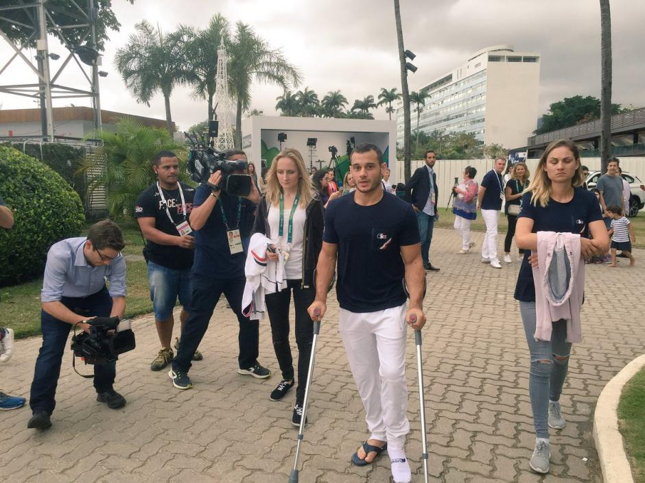 Samir Aït Said salió del hospital y ve con optimismo el futuro. (Foto: France Olympique