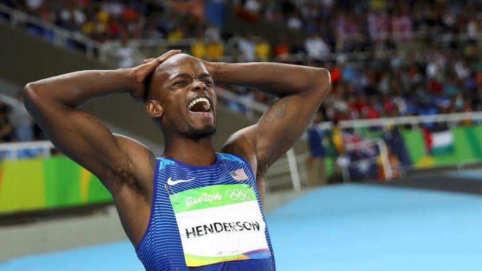 Este saltador estadounidense no podía creer que habia ganado el oro. (Foto: EFE)