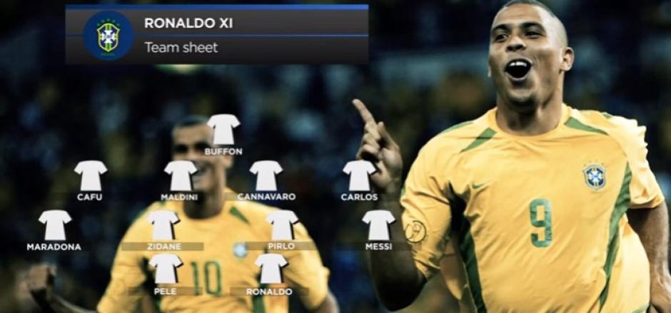 Ronaldo sorprendió a mas de uno y dejó complacidos a otros en su 11 ideal. (Foto: Twitter)