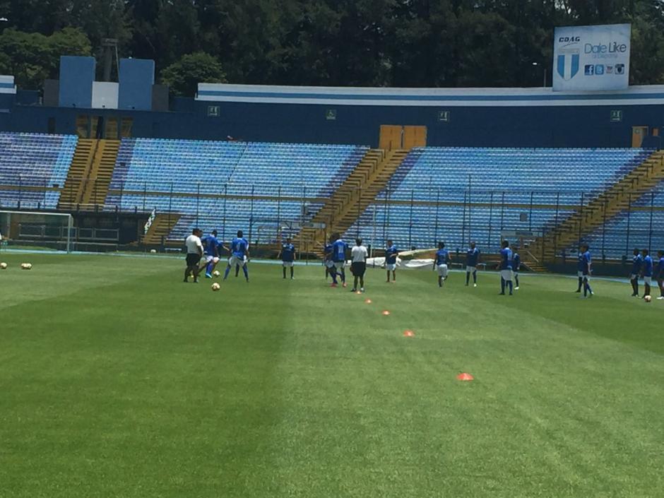 Suchitepéquez se entrenó en el estadio Doroteo Guamuch Flores. (Foto: Soy502)