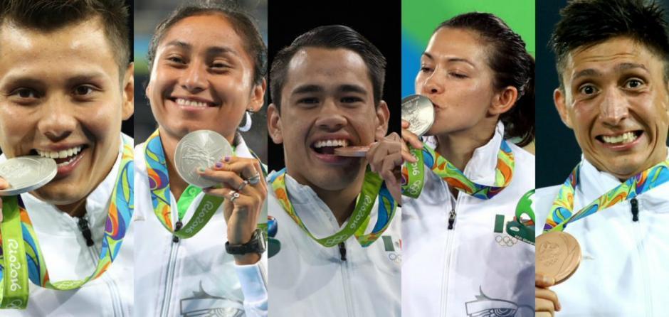 Cinco deportistas mexicanos ganaron presea en Río 2016. (Foto: Twitter)
