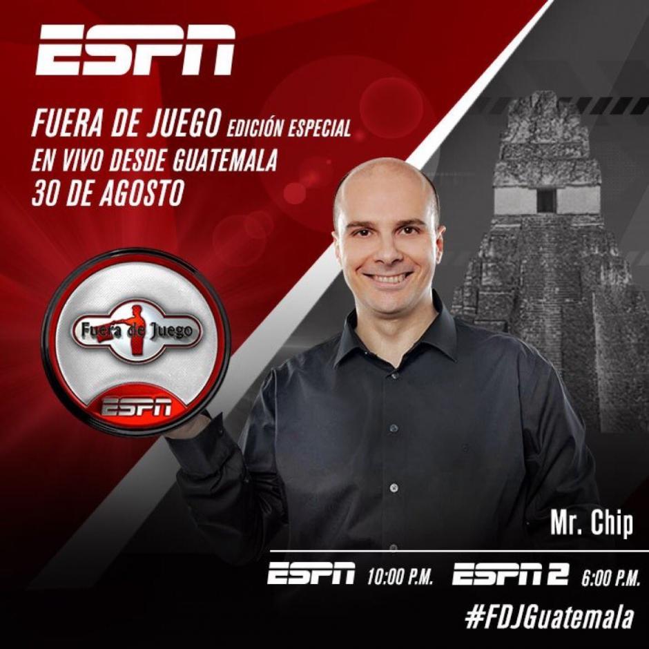 El programa se transmitirá en vivo desde Guatemala. (Foto: Twitter Mister Chip)