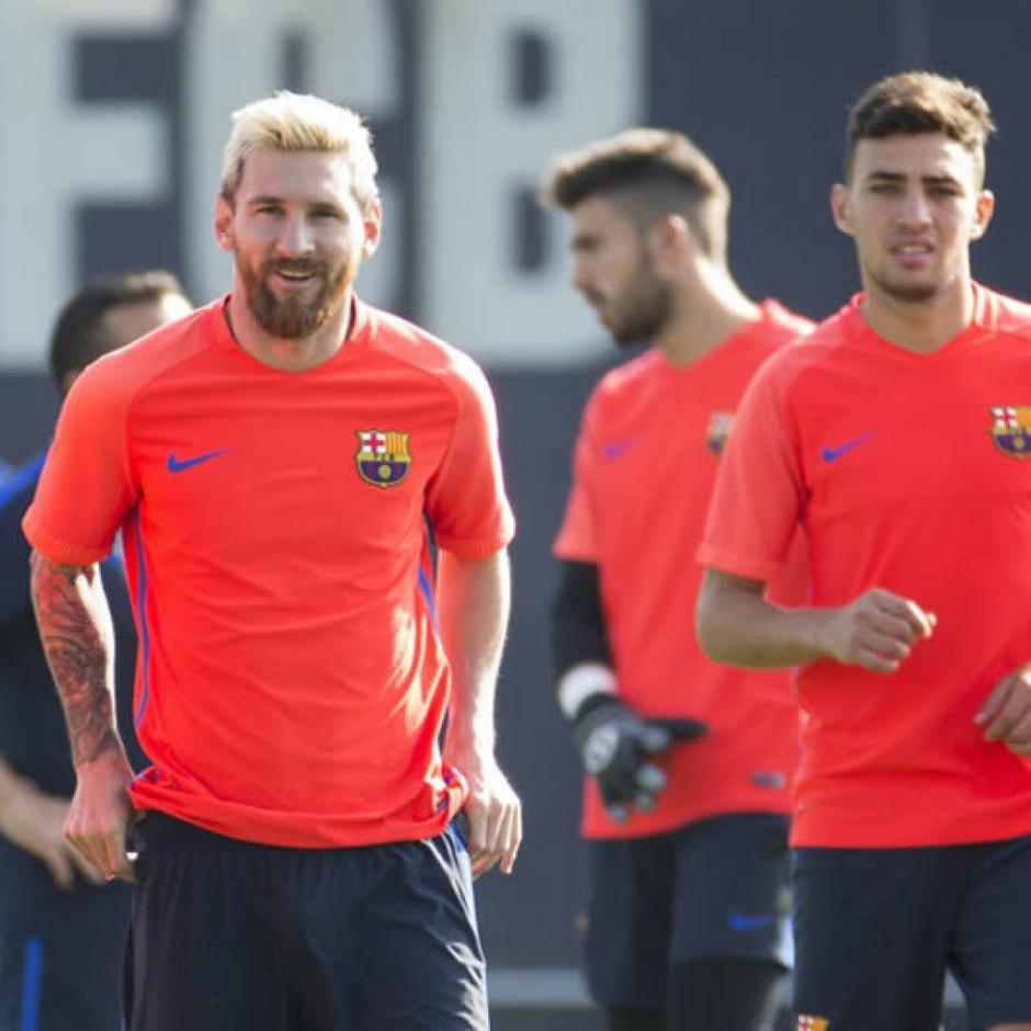 Lionel Messi y su cabello rubio espera ser el hombre clave del Barsa. (Foto: FGC Barcelona)