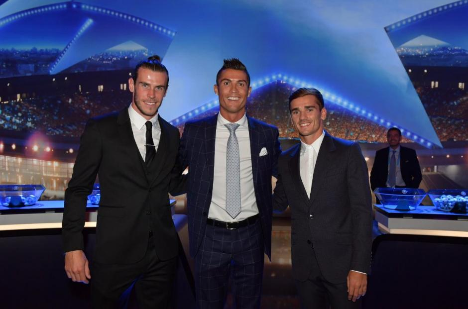 Gareth Bale, Cristiano Ronaldo y Antoine Griezmann eran los candidatos a mejor de Europa. (Foto: AFP)