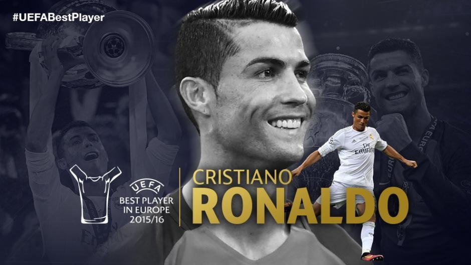 Al final CR7 fue el elegido como mejor futbolista de Europa en la temporada. (Foto: UEFA)