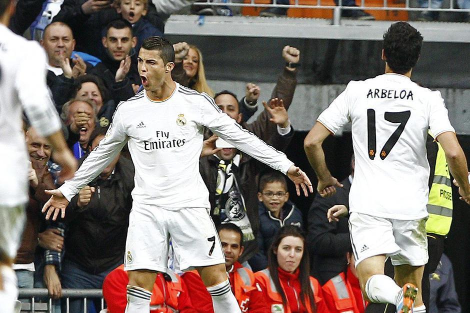 Cristiano Ronaldo, quien estará ausente, le anotó un triplete en la primera vuelta a la Real Sociedad en el Bernabéu