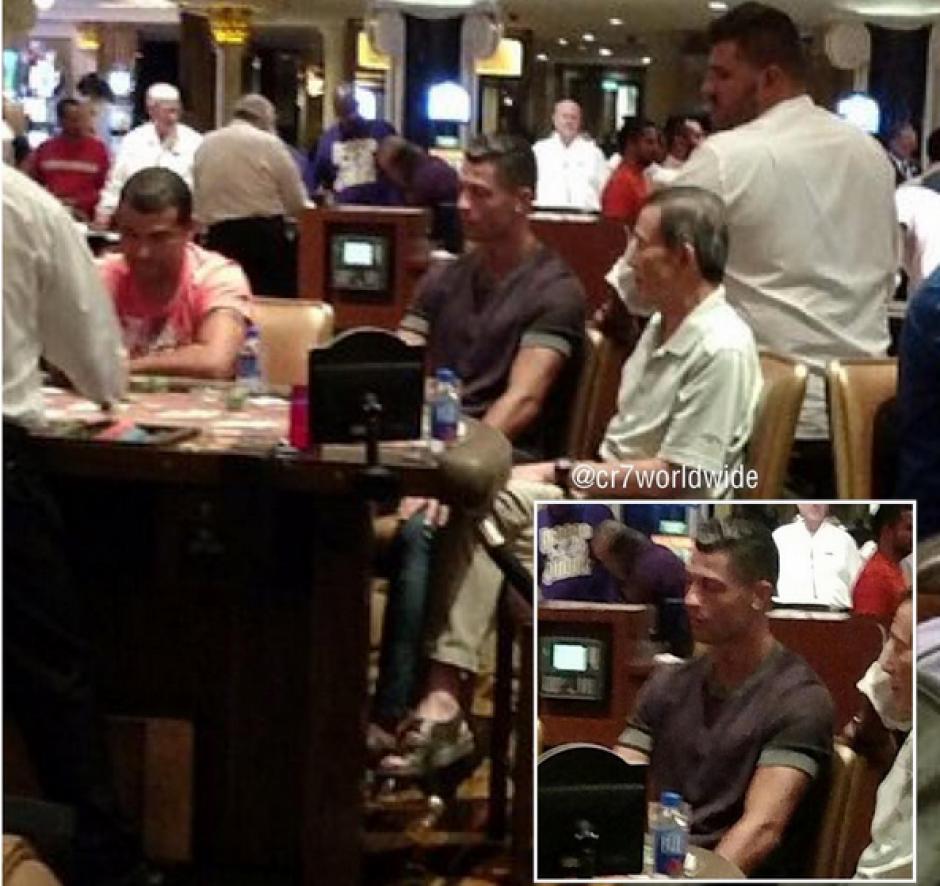 CR7 no podía irse de Las Vegas sin jugar en los casinos. (Foto: Instagram)
