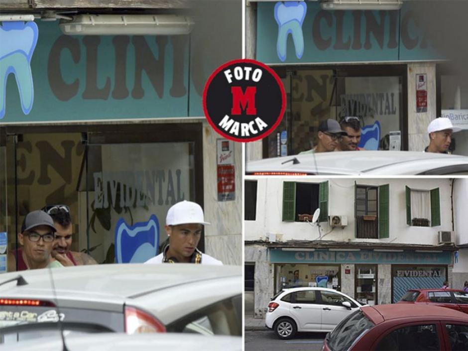 Marca presentó unas imágenes de CR7 cuando salia de la clinica donde recibe oxigenoterapia. (Foto: Marca)