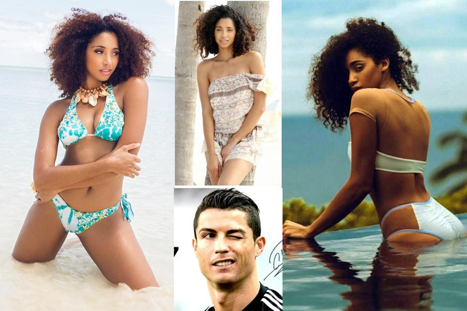 Miss Bahamas, Toria Nichole Penn, parece que le roba toda la atención a Cristiano Ronaldo.