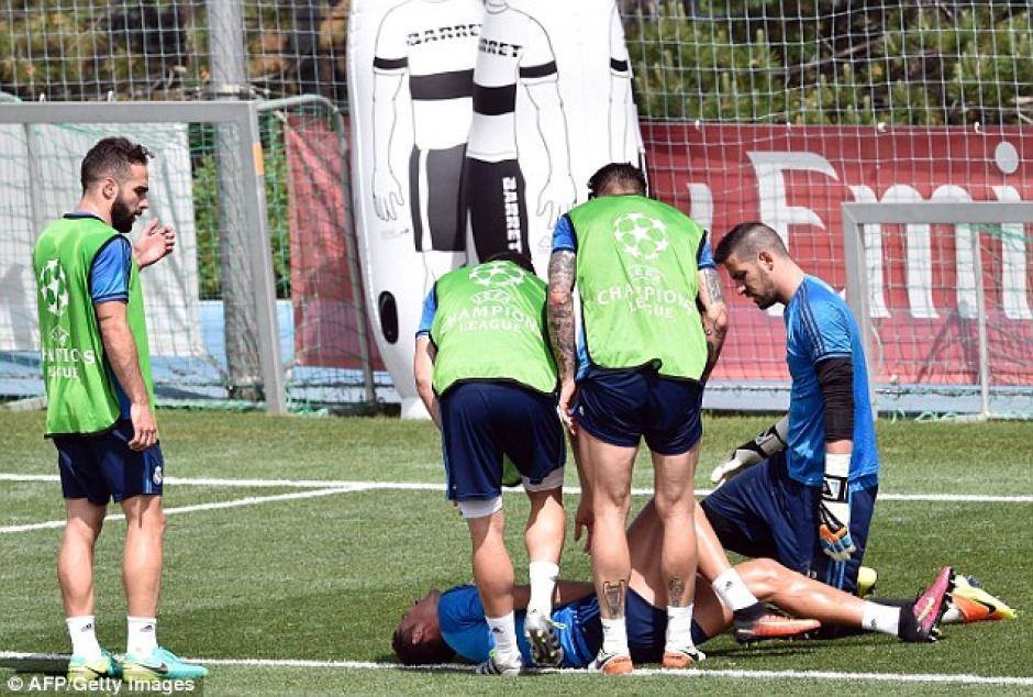 El incidente tiene lugar a cuatro días de la final de la Champions League. (Foto: Daily Mail)