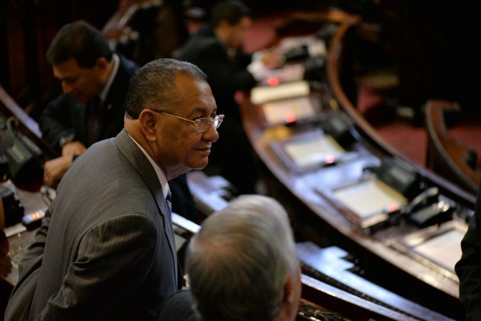 Arístides Crespo con solicitud de antejuicio en el Congreso, también se presentó. (Foto: Wilder López/Soy502)