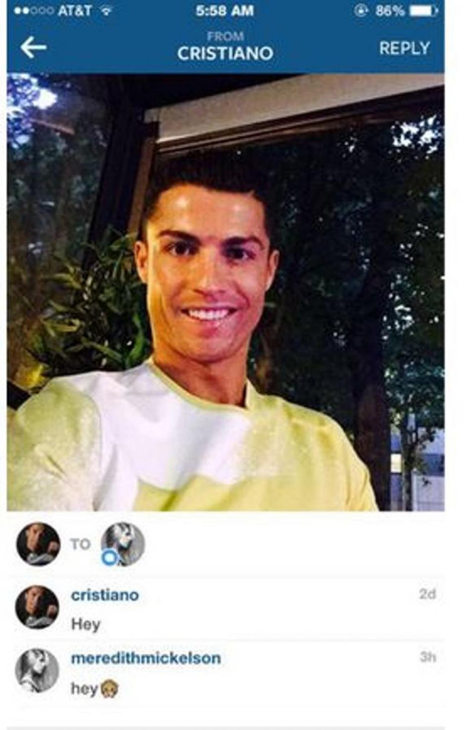 Este sería uno de kos mensajes entre el futbolista y la modelo. (Foto: El Balon Rosa)