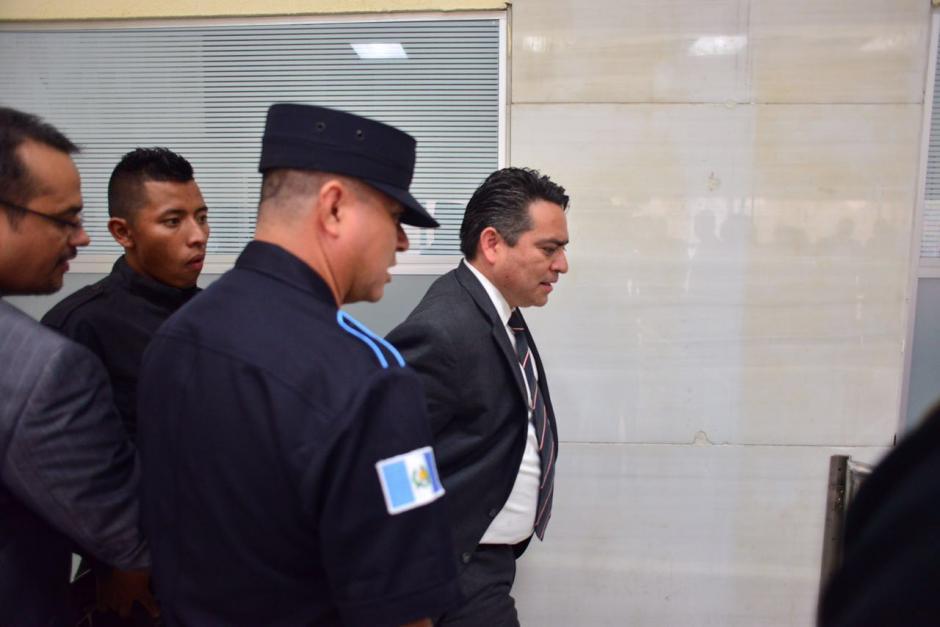 El exdiputado fue trasladado este lunes a los tribunales del país para saber si será ligado a proceso. (Foto: Jesús Alfonso/Soy502)