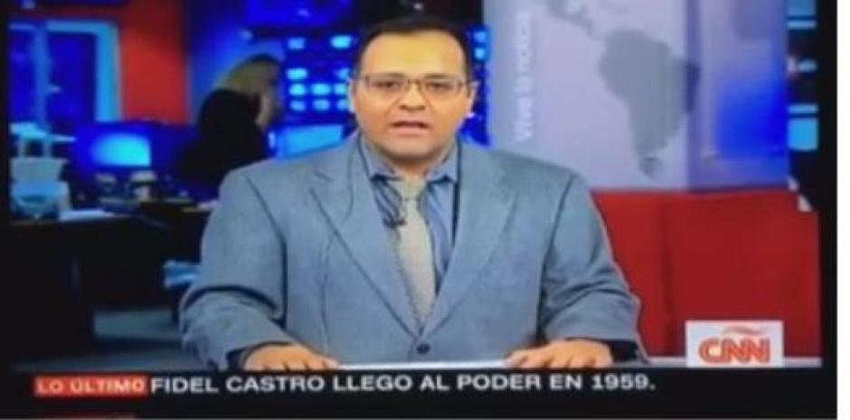 El presentador confundió a Fidel con Raúl Castro. (Imagen: captura de video)