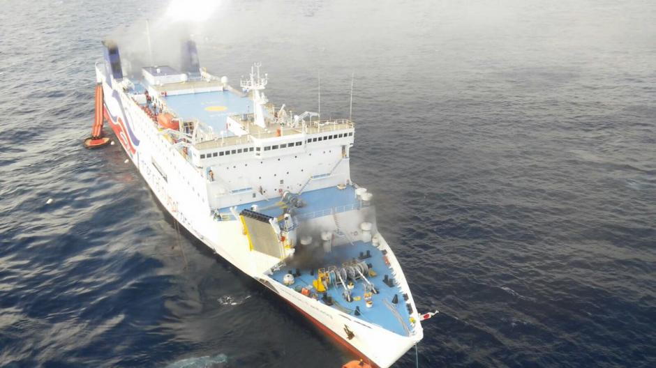 El crucero Caribbean Fantasy se incendió en las costas de Puerto Rico. (Foto: www.infobae.com)